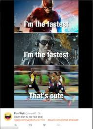 Wile E Coyote Meme - usain bolt smiling for camera during 100m olympic final spawns