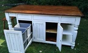 kitchen island with trash bin kitchen island with trash storage build a kitchen island with