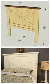 how to build a farmhouse style headboard printable instructions