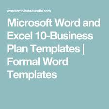 25 unique business plan template word ideas on pinterest