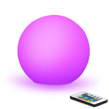 mr go rechargeable magic color led globe light lamp orb with