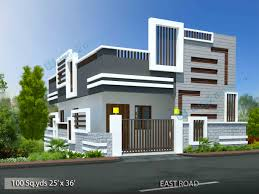 house elevation way2nirman 100 sq yds 25x36 sq ft north face house 2bhk elevation