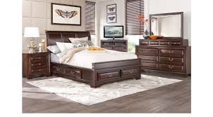 King Sleigh Bed Mill Valley Ii Cherry 5 Pc King Sleigh Bedroom With Storage