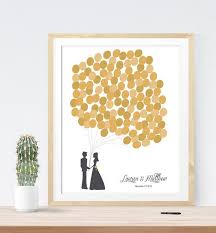 gold wedding guest book alternative with personalized for