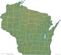wisconsin map wisconsin physical map and wisconsin topographic map