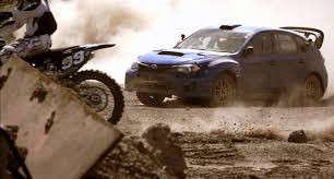 usa motocross gear subaru impreza vs cam sinclair dirt bike amazing stunt filled