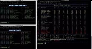 la liga live scores and table is there any linux cli application which shows the current