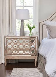 Headboard With Mirror by Gray Headboard And Gray Nightstand Traditional Bedroom