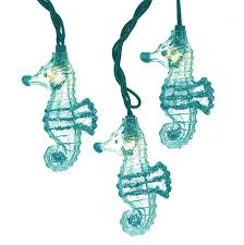 Glass Float String Lights by Glittered Teal Seahorse String Lights Under The Sea U0026 Ocean