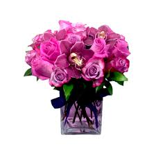 newport florist purple and pink roses by newport florist nf234 in