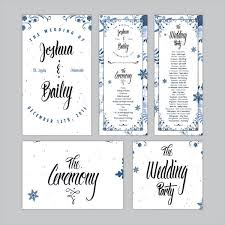 one page wedding program template designs free wedding program templates one page with