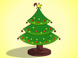 nice decoration easy christmas tree and gifts coloring page