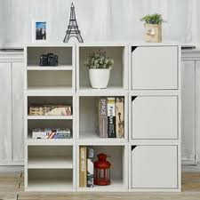 White Cottage Bookcase by Bookcases With Doors You U0027ll Love Wayfair
