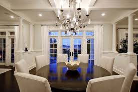 Formal Dining Room Decorating Ideas With Shining Chandelier And