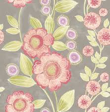 bloom pink floral wallpaper contemporary wallpaper by