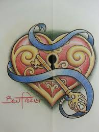 41 best heart key tattoo flash images on pinterest butterfly