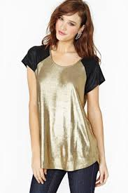plus size gold fashion sleeve sparkle womens t shirt