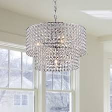 Crystal Chandelier Band Chrome Crystal 4 Light Round Ceiling Chandelier Free Shipping