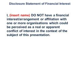 template title speaker name subtitle disclosure statement of
