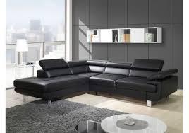 canapé d angle cuir design canapé design d angle studio cuir pu noir canapés d angle