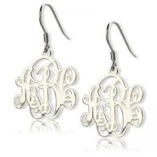 monogrammed earrings personalized earrings for