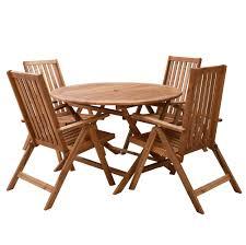 milan direct eivissa acacia 5 piece outdoor folding dining set