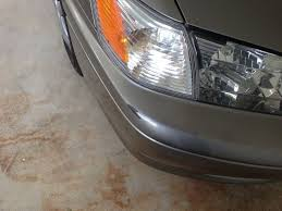 gouge and small scratches on bumper