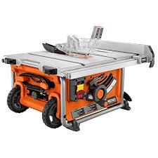 Ridgid Table Saw Parts Ridgid R45161 15 Amp 10 In Compact Table Saw Amazon Com