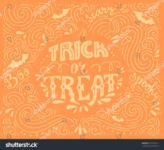 trick treat handdrawn lettering vector art stock vector 313915514