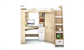 bureau surélevé lit sureleve avec bureau integre lit lit mezzanine avec bureau