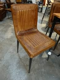 Rustic Industrial Dining Chairs The Quilted Leather Gives It Rustic Charm Features A Stressed