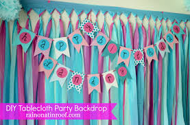 How To Decorate Birthday Party At Home by Diy Party Background For 5 Or Less