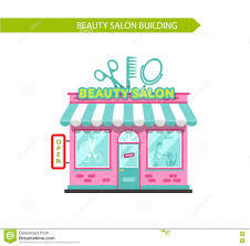 beauty or hair salon building stock vector image 72704262