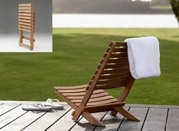 Beach Armchair Dania Folding Teak Beach Chair By Skagerak