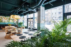Restaurant Decor Industrial Style Restaurant With A Greenery Themed Decor