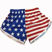 Ripped American Flag Womens American Flag Split Shorts From Annapolis Running Shop