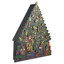 tree wooden advent calendar fortnum