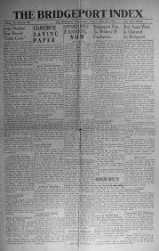 index of names from the 1944 1946 bridgeport index newspaper