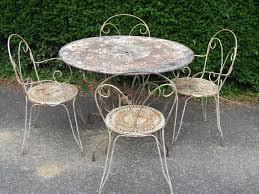 g103 s vintage french wrought iron garden patio set la belle