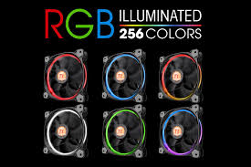 120mm rgb case fan thermaltake riing 12 rgb series 120mm led rgb 256 colors case fan
