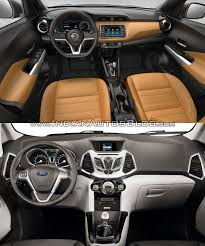 nissan kicks 2016 nissan kicks vs ford ecosport interior indian autos blog