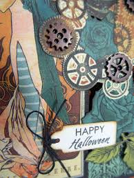 steampunk halloween annette u0027s creative journey just for fun steampunk halloween card