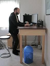 Diy Standing Desk by Standing Desk Table Wood Board Monitor Laptop Keyboard Creative