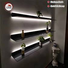 wall mounted kitchen display cabinets italy minimalist wall mounted led light display shelf l shape for living room kitchen study room