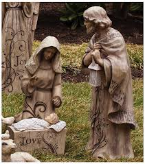 outdoor nativity set gifted living joseph and baby jesus large