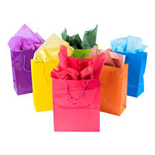 gift bags neon colored blank paper party gift bags rainbow