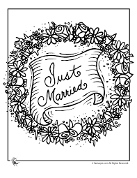 wedding coloring pages married garland coloring