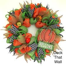 thanksgiving fall wreaths deck that wall