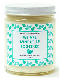 we are mint to be together candle made in the usa valentine u0027s