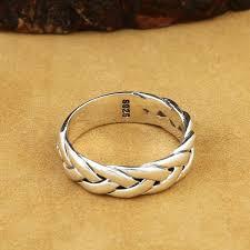 sterling silver ring bracelet images Simple brief design 100 real solid 925 sterling silver ring men jpg